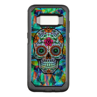 Retro Floral Sugar Skull Geometric Background OtterBox Commuter Samsung Galaxy S8 Case