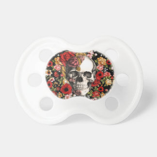 Retro florals with skull pattern dummy