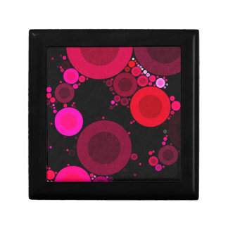 Retro Florescent Polk-Dot Pattern Trinket Boxes