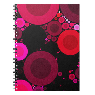 Retro Florescent Polk-Dot Pattern Notebook