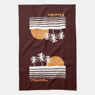 Retro Florida Tea Towel