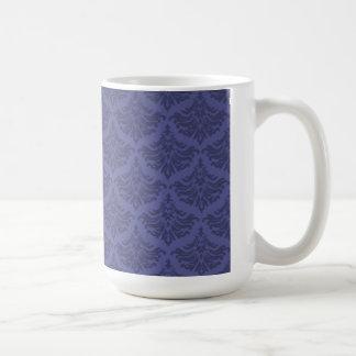 Retro Flourish Blue Violet Mug