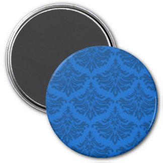Retro Flourish Endeavor Blue 7.5 Cm Round Magnet