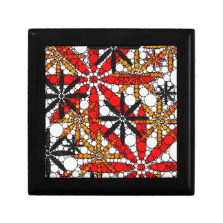 Retro Flower Abstract Small Square Gift Box