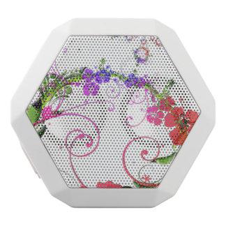 Retro Flower White Boombot Rex Bluetooth Speaker