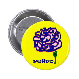 Retro Flower Button