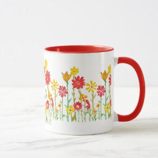 Retro Flower Coffee Mug By Megaflora