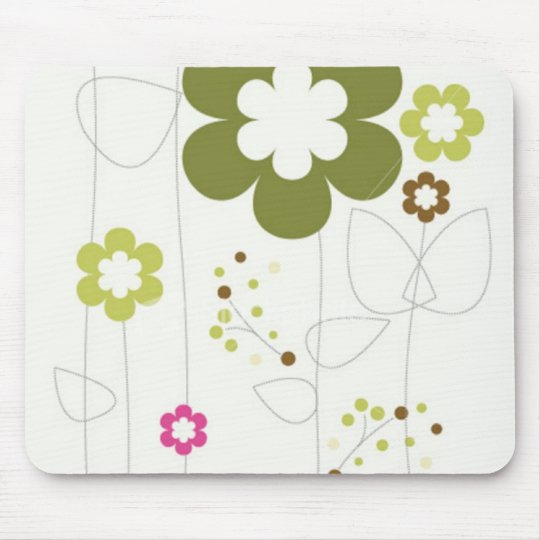 RETRO FLOWER MOUSE PAD