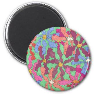 Retro Flower Pattern Boho Design Magnet