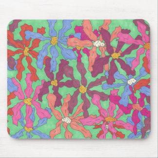 Retro Flower Pattern Boho Design Mouse Pad