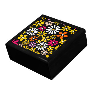 Retro Flower pattern Large Square Gift Box