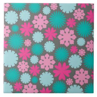 Retro Flower Pattern Ceramic Tiles