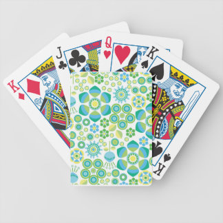 Retro Flower Playing Cards