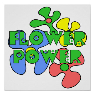 Retro Flower Power Poster