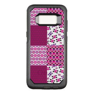 Retro flower skull polka dot OtterBox commuter samsung galaxy s8 case