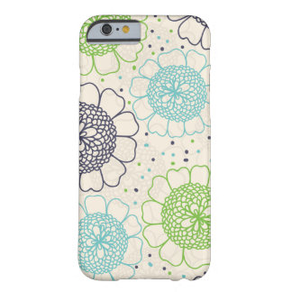 Retro Flowers Barely There iPhone 6 Case