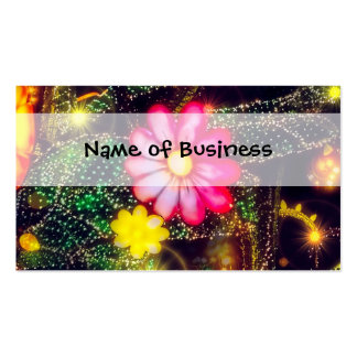 Retro Flowers Neon Lights Pack Of Standard Business Cards