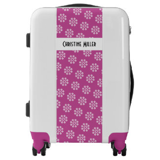 Retro Flowers seamless pattern white transparent Luggage
