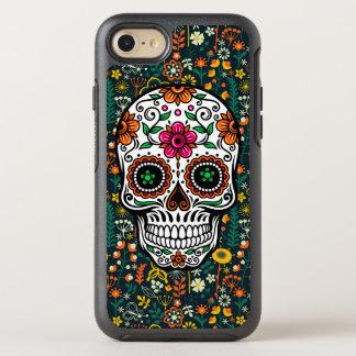 Retro Flowers & Sugar Skull Illustration OtterBox Symmetry iPhone 8/7 Case