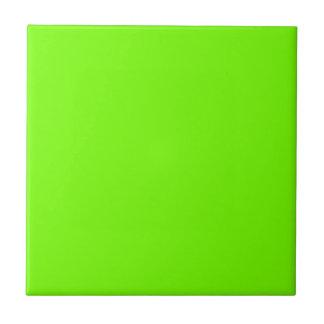 Retro Fluoro Lime-Green Collection Ceramic Tile