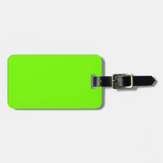 Retro Fluoro Lime-Green Collection Luggage Tag