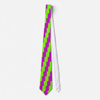 Retro Fluoro Lime-Green & Purple Collection Tie