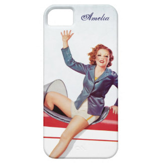 Retro Fly Girl Personalized iPhone 5 Cover