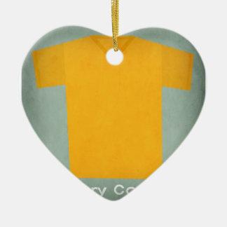 Retro Football Jersey Ivory Coast Ceramic Heart Decoration