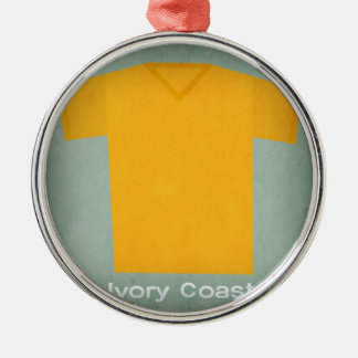 Retro Football Jersey Ivory Coast Silver-Colored Round Decoration