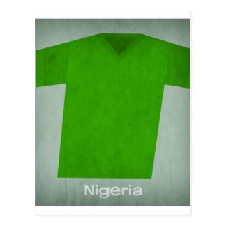Retro Football Jersey Nigeria Postcard