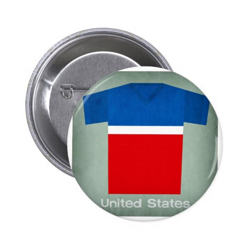 Retro Football Jersey United States Buttons