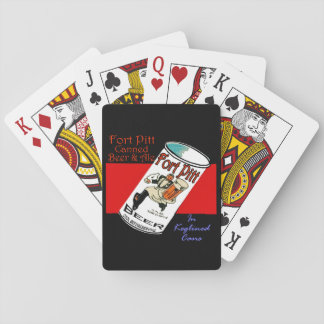 Retro Fort Pitt Beer Playing Cards