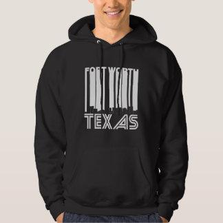 Retro Fort Worth Texas Skyline Hoodie