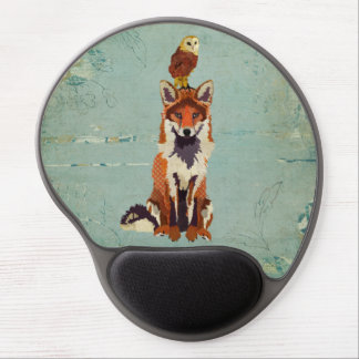 Retro Fox & Owl Mousepad