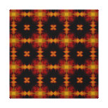 Retro Fractal Pattern red black yellow