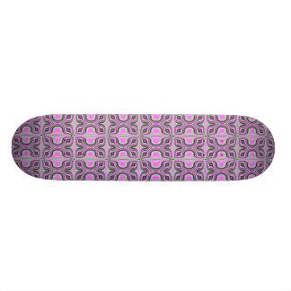 retro fractal skateboard deck
