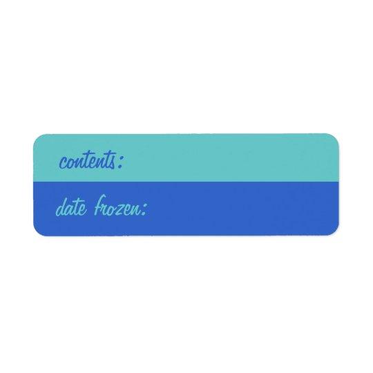 Retro Freezer Labels