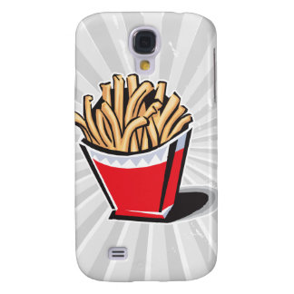 retro french fries design galaxy s4 cover