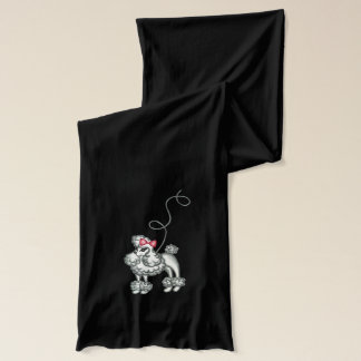 Retro French Poodle Women's Winter Scarf