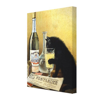 """Retro french poster """"absinthe bourgeois"""" canvas print"""