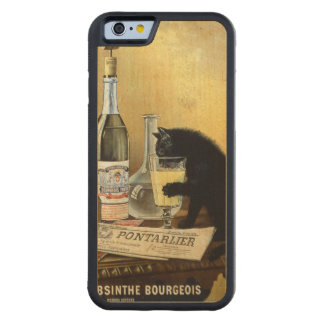 """Retro french poster """"absinthe bourgeois"""" carved maple iPhone 6 bumper case"""