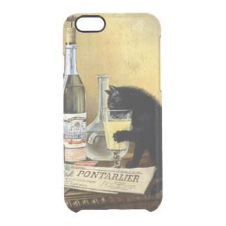 "Retro french poster ""absinthe bourgeois"" clear iPhone 6/6S case"