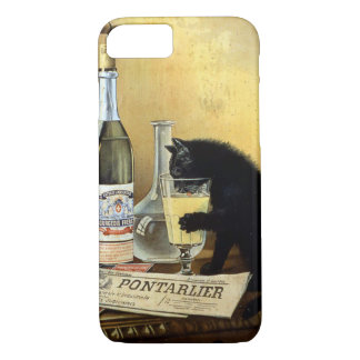 "Retro french poster ""absinthe bourgeois"" iPhone 7 case"