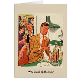 Retro Friends - Who Drank All the Rum?, Card