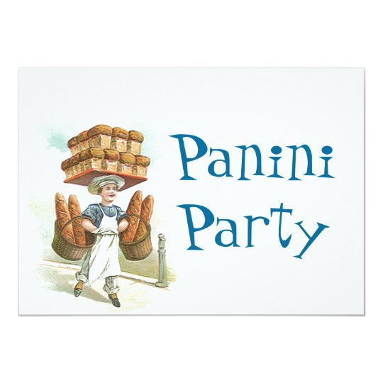 Retro Fun Panini Party Celebration Invitation