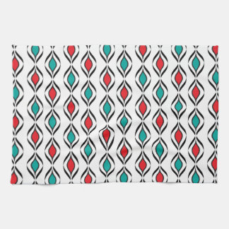 Retro Fun Patterns Hand Towels
