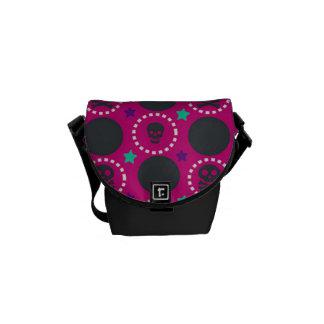 Retro Fun Pink Skull Pattern Commuter Bags
