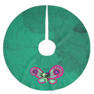 Retro Fun Zombie Butterfly Brushed Polyester Tree Skirt