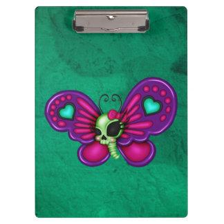 Retro Fun Zombie Butterfly Clipboards