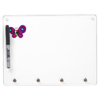 Retro Fun Zombie Butterfly Dry Erase Board